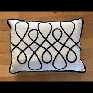 Other - Black and white rectangle throw pillow